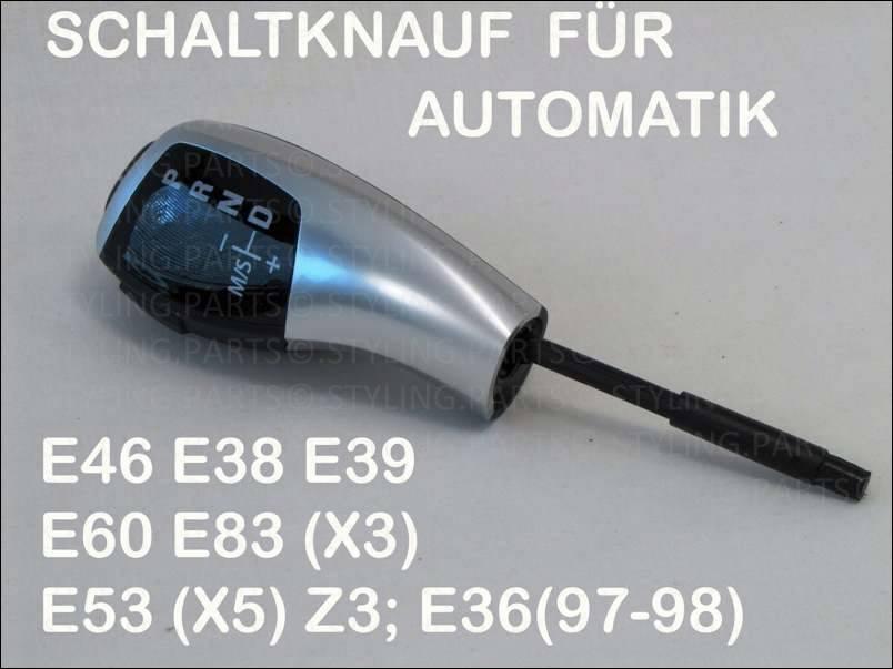 schaltknauf f bmw m automatik e46 e38 e39 e60 e61 e83 e87. Black Bedroom Furniture Sets. Home Design Ideas