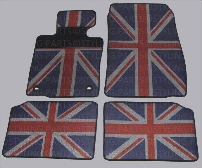 mini countryman r60 paceman r61 rugs carpets rubber union jack ebay. Black Bedroom Furniture Sets. Home Design Ideas